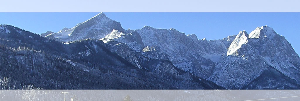 The view of the fantastic panorama of the Alpspitz in Garmisch-Partenkirchen