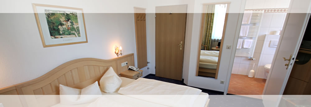 A look at one of the comfortable room of the Hotel Roter Hahn